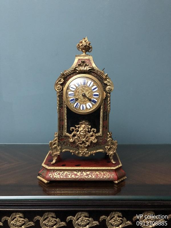 Đồng hồ để bàn vỏ gỗ