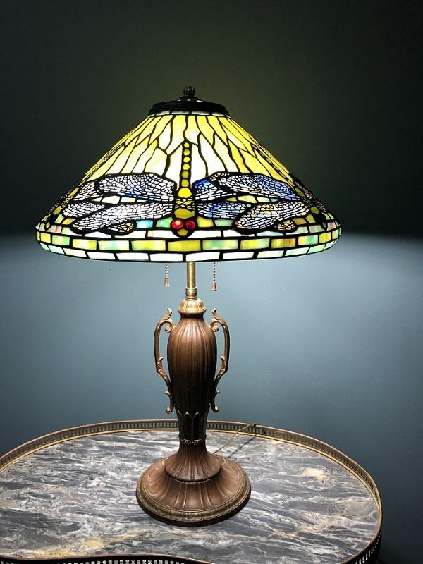 Đèn Tyffany chuồn chuồn xanh