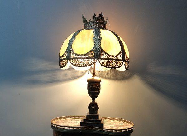 Đèn Tyffany cổ kiểu vương miện